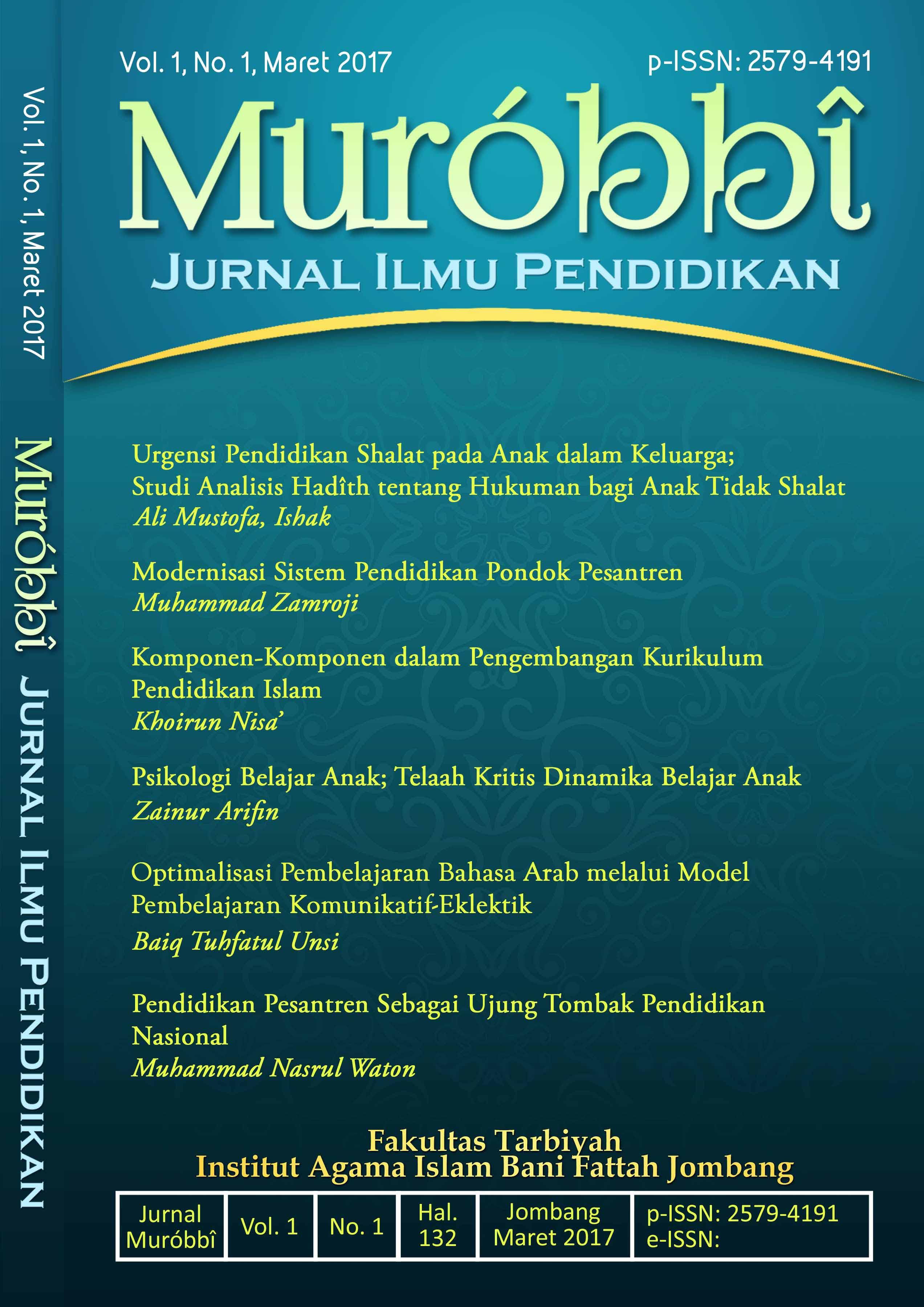 Psikologi pendidikan pdf jurnal